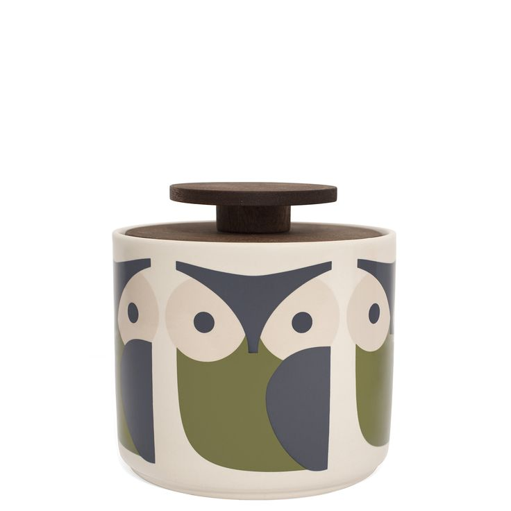Orla Kiely: This ceramic storage jar with Owl design will compliment any stylish kitchen, whether retro or contemporary. These ceramics are produced in Portugal and are handmade. Pieces may therefore display varied characteristics. PLEASE NOTE: Ceramics are sold within the UK only. Weight: 0.75kg Volume: 1L