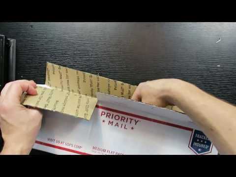 A neat trick for making a custom size box for shipping weirdly shaped items for eBay and amazon - YouTube