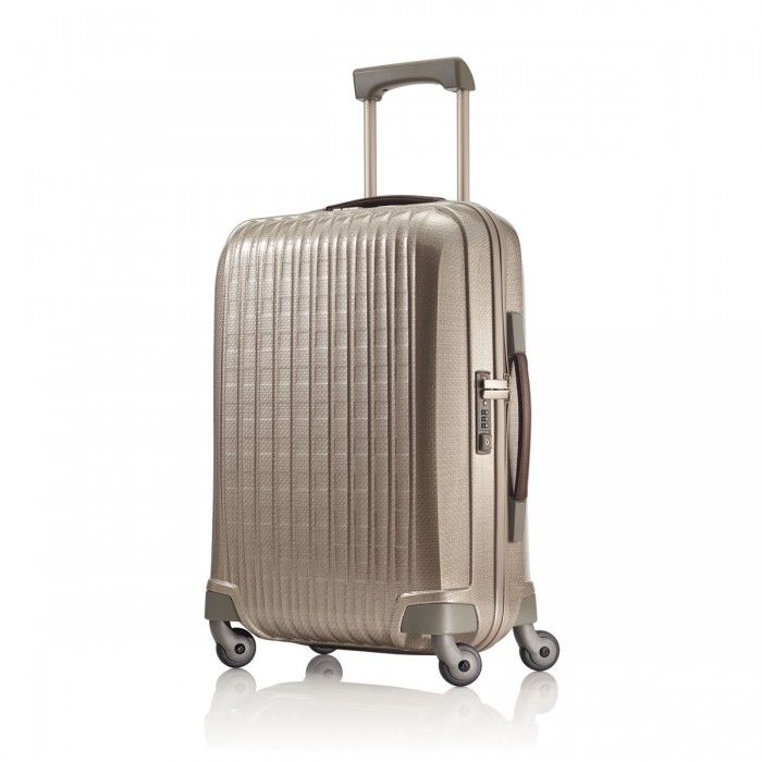 Global Carry-On Spinner by Hartmann Luggage, in Ivory Gold - Innovaire Collection