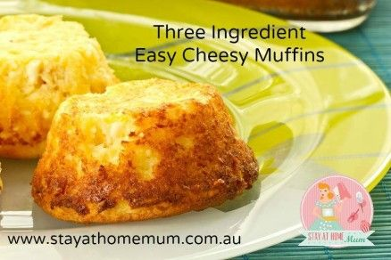 3 Ingredient Cheesy Muffins