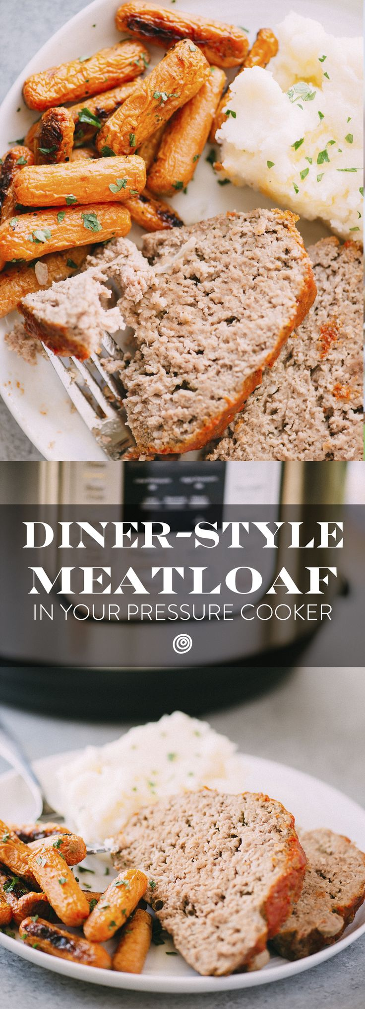 Pressure Cooker Meatloaf Recipe. This is the EASY, QUICK way to get meat loaf on the table for dinner on a weeknight. Make this moist, tender, comfort food classic with ground beef, panko breadcrumbs, milk, onion, eggs, ground pork, and ketchup. Pressure cooking in your instant pot or pressure cooker makes this meal, the king of diner recipes, a breeze!