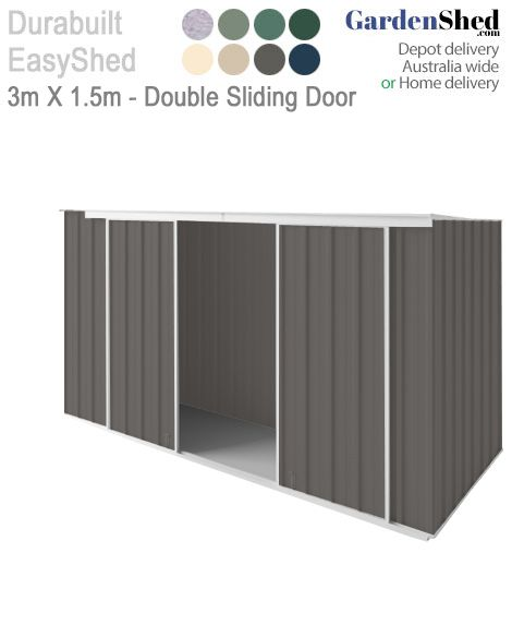 Heaps of storage space with options for extra height or a sliding door. EasySheds are the most durable on the market.