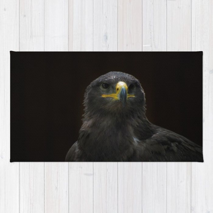 Steppe Eagle Rug by Mixed Imagery | Society6