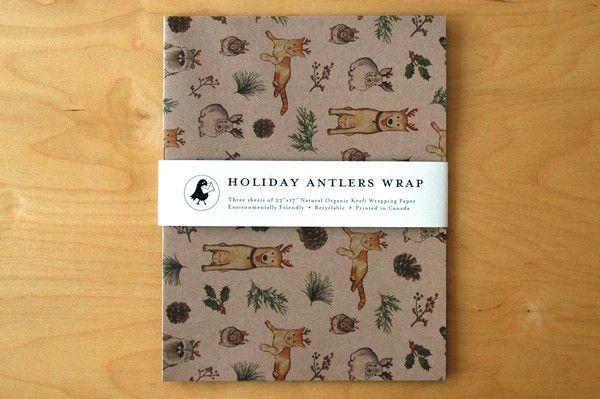Antler Animals Wrap by Gotamago