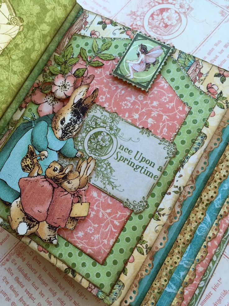 March 2015 G45 Once Upon a Springtime - Mini Album Sneak Peek for April 18th Class by Maria Cole; Paperiah