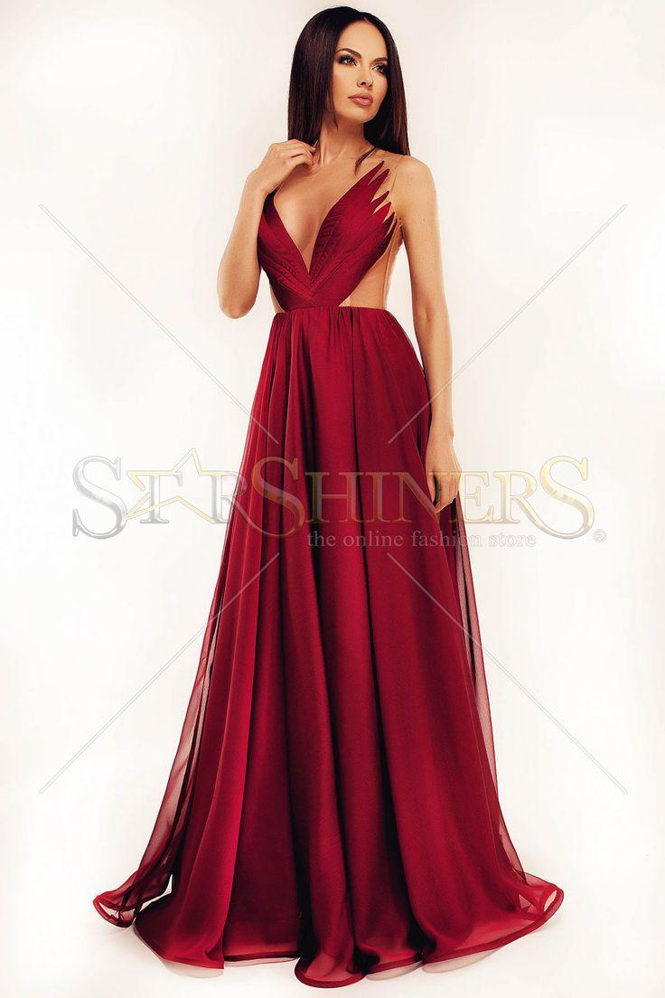 Ana Radu Soft Wings Burgundy Dress