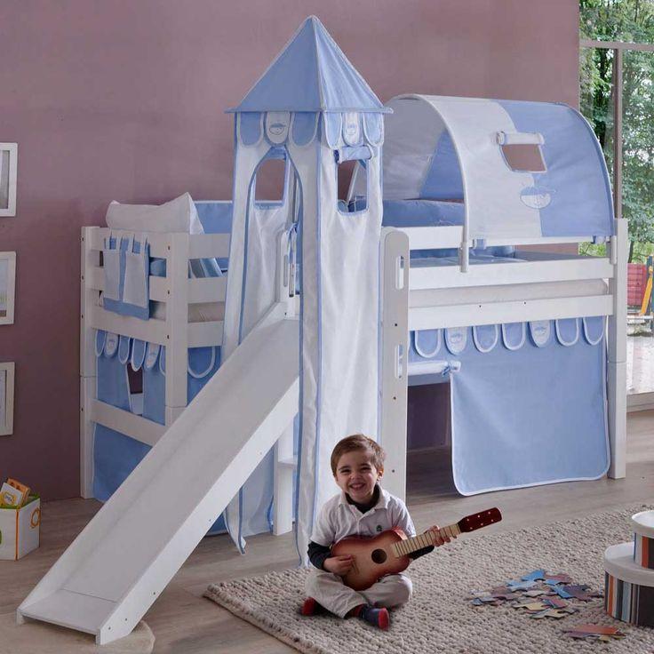 Superb Rutschen Hochbett in Wei Blau Jungen Jetzt bestellen unter https moebel ladendirekt de kinderzimmer betten hochbetten uid uddabd b a