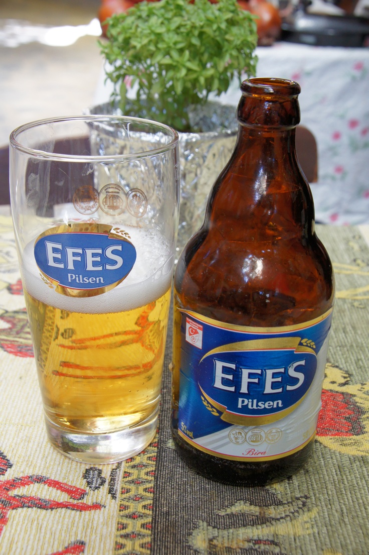 A local beer in Kusadasi, Turkey (photo by Peggy Mooney)