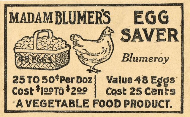 Knick of Time: Antique Graphics Wednesday - Farm Store Receipt & Egg Saver Advertisement