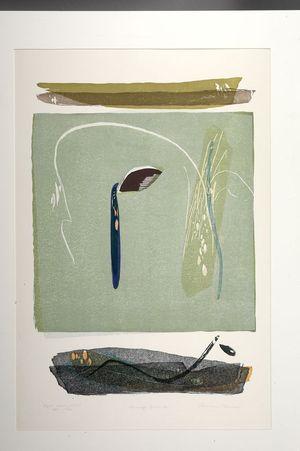 Takahashi Rikio: Nunnery's Garden (A) -- Kyoto Series No. 46, Shôwa period, dated 1975 - Harvard Art Museum