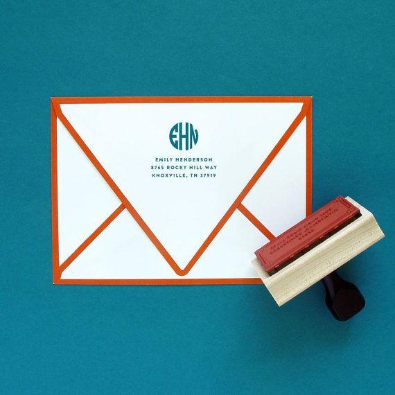 Circle Monogram Return Address Stamp $28.00