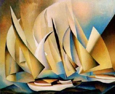 Yachts and Yachting, 1922 Lyonel Feininger