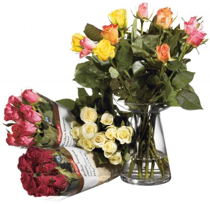 Reilun kaupan ruusu, näyttää kauniilta, kestää ja tekee hyvää.