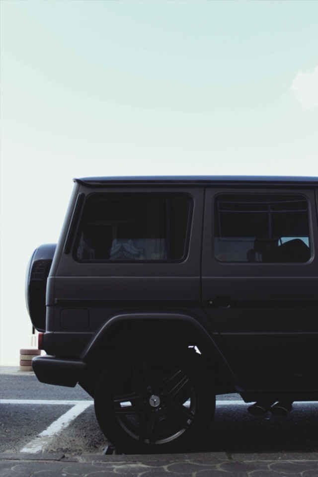 mercedes suv amped up with rims tinted windows - Mercedes G Class 66