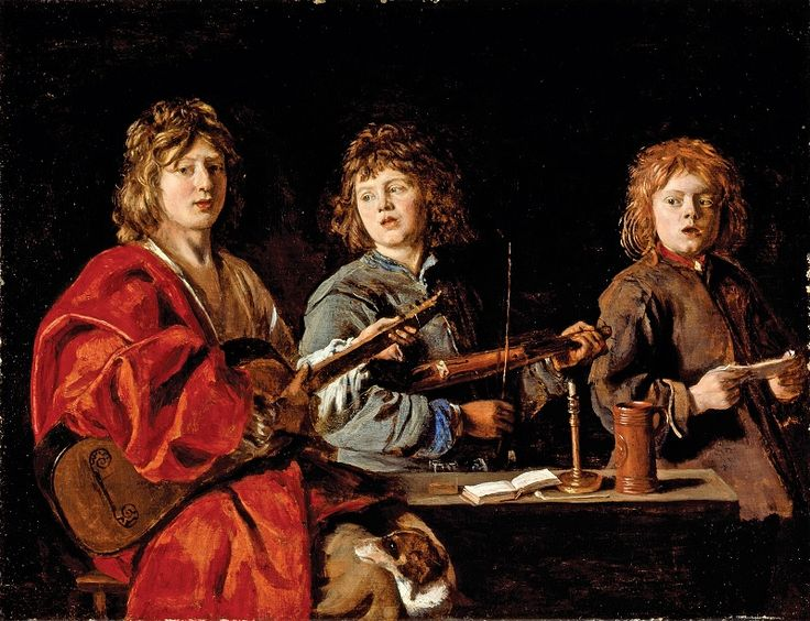 Three young musicians, by Antoine (?) Le Nain, c.1640–45. (Los Angeles County Museum of Art; exh. Kimbell Art Museum, Fort Worth).