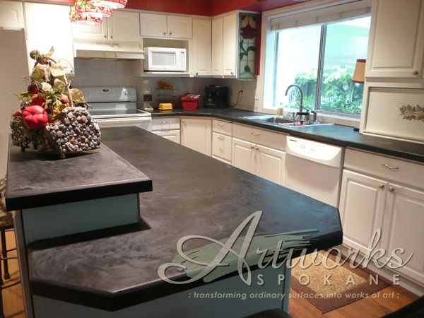 We This At Decorative And It S Awesome Skimstone Over Formica Countertop Crazy Diy Countertops Tile