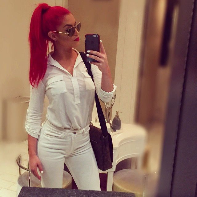 @natalieevamarie from Eva Marie's Latest Pics Eva Marie decides to do all white everything for an afternoon out.