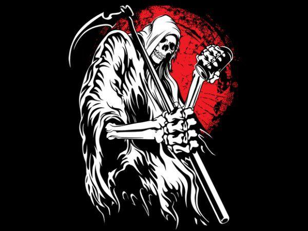Grim Reaper Vector T Shirt Design Buy T Shirt Designs Grim Reaper Reaper Tshirt Designs