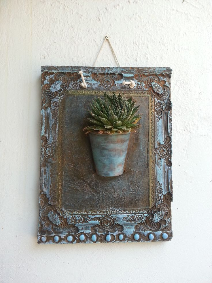 Succulent panter idea with cement craft by Love thy garden at Karoo Square in Pretoria
