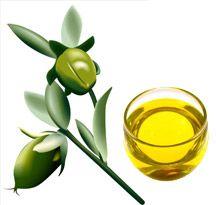 Jojobový olej: Hutný zlatavý olej. Nedoporučuju z něj dělat zábaly, může vlasy přetížit. Při aplikaci do konečků pomáhá předcházet třepení, regeneruje a uhlazuje.