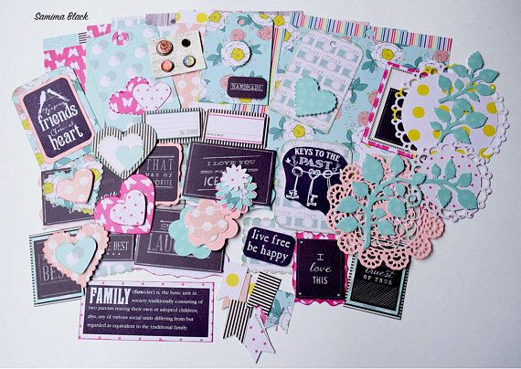 Dear Lizzy Polka dot Party Scrapbook Paper and Embellishment