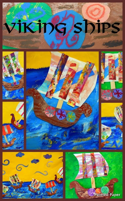 vikings ships from Painted Paper