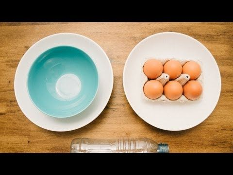 Very cool way to separate egg yolk - YouTube