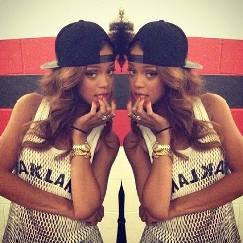 Rihanna in our Love Leather mesh leather Oakland tank 3 1    1