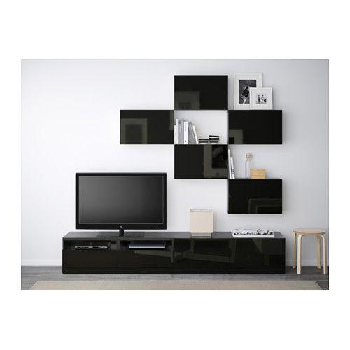 les 104 meilleures images du tableau mur tv et rangement sur pinterest id es d co pour salon. Black Bedroom Furniture Sets. Home Design Ideas