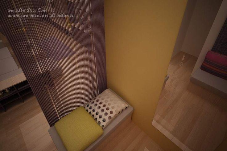Design apartament mic in culori calde - Art Deco Zone & Knox Design - Amenajari interioare Bucuresti