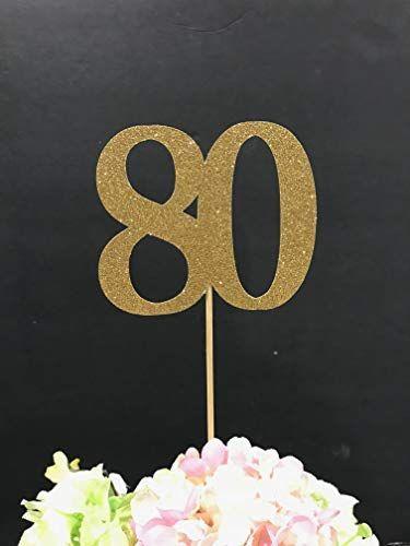 Amazon 80th Birthday Decoration Centerpiece Sticks Glitter Table Anniversary Age Centerpieces