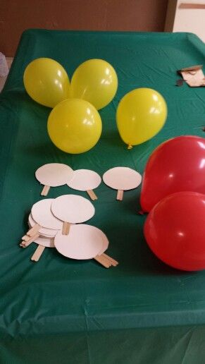 Balloon ping pong was a huge hit with our Daisy Scouts. We used paper plates and craft sticks and balloons. The girls loved this game!