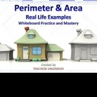 Teach students to calculate perimeter and area with this 22 slide PowerPoint lesson. You will reach a whole new level of understanding!  Students c...