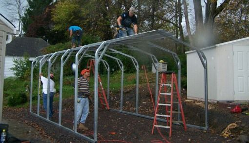 Plastic Bottle Carport : Metal carport conversion google search garden fruits