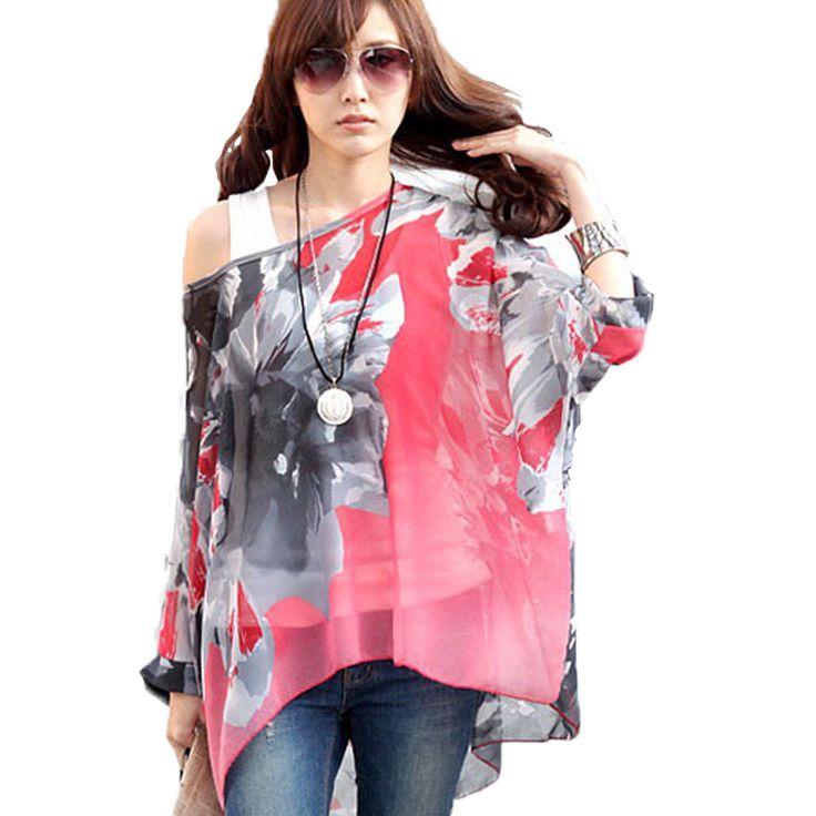 Barato 2015 novidade senhoras elegante Floral impressão Casual soltos blusas camisas Plus Size 4XL 5XL 6XL mulheres de verão Chiffon Tops camisetas, Compro Qualidade Blusas diretamente de fornecedores da China:             Temos 60 cores padrão, escolher qualquer um que você gosta!