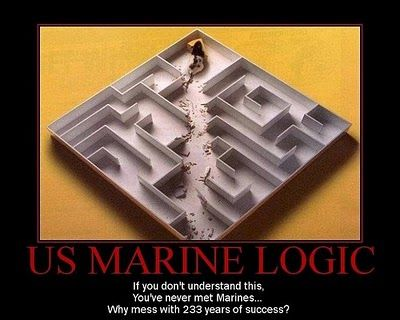 Marines do not do mazes. In honor of all the Marines I know, knew, or are…