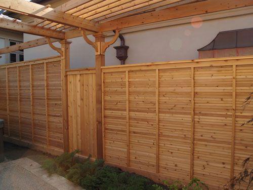 fence: Fence Ideas, Wood Fences, Horizontal Fence, Privacy Fences, Horizontal Boards, Design Privacy Fence, Boards Fence, Design Wooden Fence, Fence Design