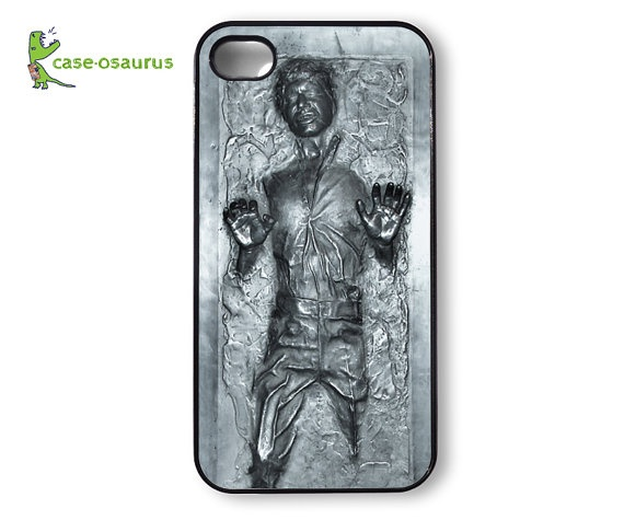 The star Wars geek in me... Awesome frozen Han Solo in carbonite iPhone 4 case!