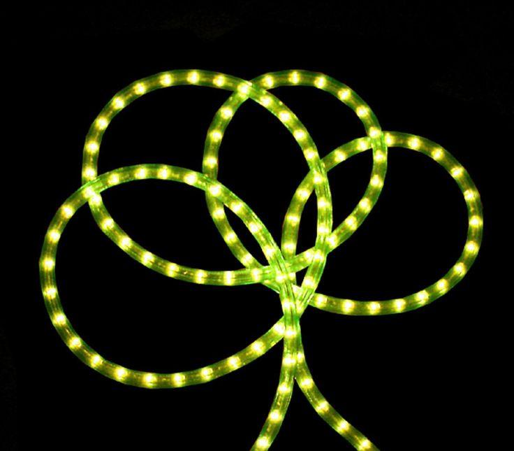 18' Neon Green Indoor/Outdoor Christmas Rope Lights