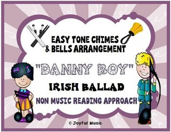 """***$3.00*** This product includes the following: • Lesson Plan, Objectives, Procedures • Actual musical arrangement used for the piece • Sheet with lyrics and rhythms used in the piece • Individual printable """"music"""" for each chime or bell This product uses a """"non-music reading"""" approach."""