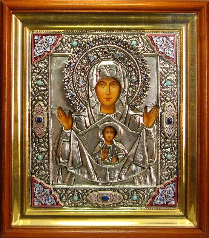 Икона Божией Матери «Знамение» Курская-Коренная. Сертификат 22