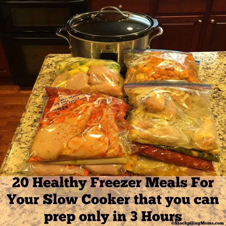 Make 20 Healthy Freezer Meals in 3 hours!