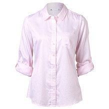 Cotton Boyfriend Shirt - Pink Stripe