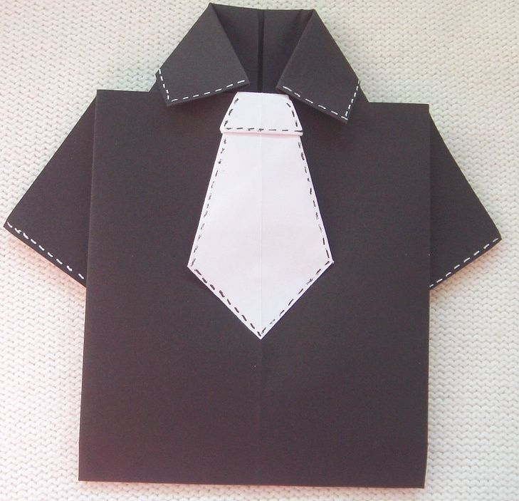 father's day shirt pocket card