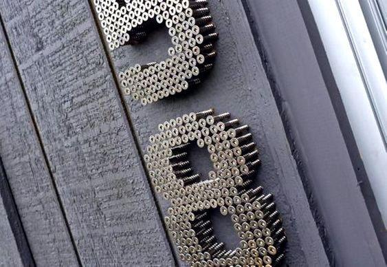 Placa para casa com número de parafusos_>>>>> Como fazer placas de endereço com números de parafusos! <<<<<<
