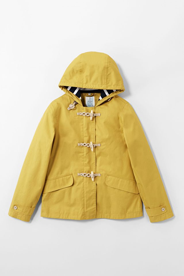 The original and best! Hip length ladies raincoat in Seasalt's famous Tin Cloth® fabric. Waterproof, windproof and breathable.