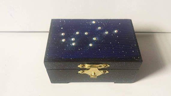 Virgo Jewelry Box Zodiac Jewelry Box Zodiac Keepsake Box Virgo