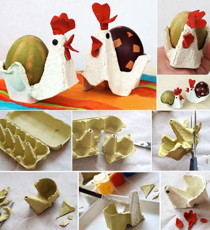 Поделки к Пасхе из яичных лотков - Ярмарка Мастеров - ручная работа, handmade