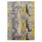 Found it at Temple & Webster - Hannah Matrix Rug Yellow Grey