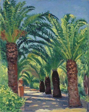 Albert Marquet - Palmiers à Porquerolles (1939)